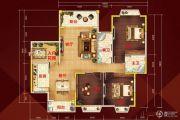 柏隆国际公馆3室2厅2卫0平方米户型图