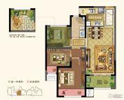 路劲城3室2厅1卫84平方米户型图
