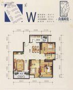 尚城峰境3室2厅1卫87平方米户型图