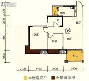 尚观嘉园2室2厅1卫78平方米户型图