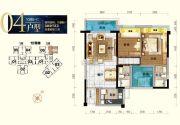 丹灶碧桂园3室2厅2卫88平方米户型图