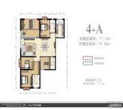 外滩名著4室2厅3卫0平方米户型图