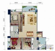 浏卉新城3室2厅2卫127平方米户型图