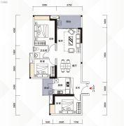 富力现代广场3室2厅1卫105平方米户型图