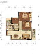 中海阅江阁2室2厅1卫77平方米户型图