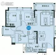 中森茗苑3室2厅1卫86平方米户型图