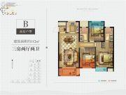中梁壹号院3室2厅2卫112平方米户型图