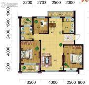 雷明锦程二期3室2厅1卫99平方米户型图