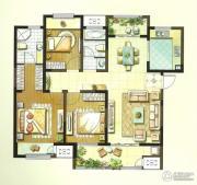 聚湖雅苑3室2厅2卫128平方米户型图