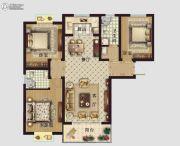 东鑫中央公园3室2厅2卫129平方米户型图