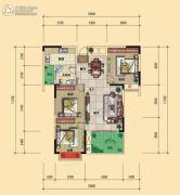 宏�S・缇香郡3室2厅1卫103平方米户型图