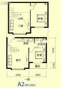 临海听涛2室1厅1卫61平方米户型图