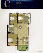 华明星海湾3室2厅1卫118平方米户型图