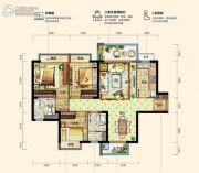 碧桂园松湖珑悦3室2厅2卫97--99平方米户型图
