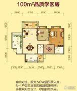 华英城三期3室2厅2卫100平方米户型图