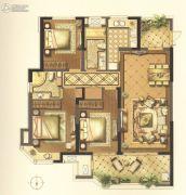 绿地新都会3室2厅2卫138平方米户型图