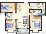 新美城上领地3室2厅2卫136平方米户型图