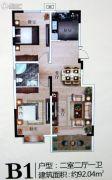 东润桂园2室2厅1卫0平方米户型图