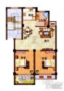 光明公寓2室2厅1卫75平方米户型图