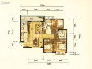 昆明・恒大名都3室2厅2卫117平方米户型图