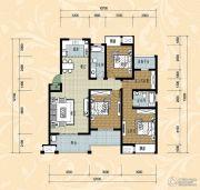 国际华城四期3室2厅2卫120平方米户型图