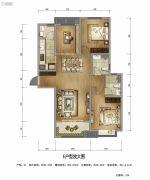 万科高新华府3室2厅2卫114平方米户型图