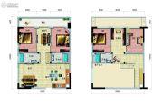 广物亚运源筑4室3厅4卫77平方米户型图