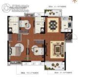 新力金沙湾3室2厅2卫118平方米户型图