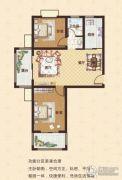 中瓯名城2室2厅1卫92平方米户型图