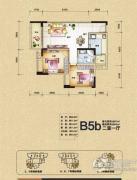 渝开发上城时代2室1厅1卫67平方米户型图