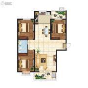 江南鸿郡3室2厅1卫126平方米户型图