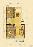 御景园2室2厅1卫87平方米户型图