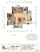 天立香缇华府3室2厅2卫89平方米户型图