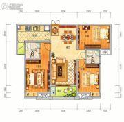 中泰美域3室2厅2卫121平方米户型图