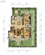 万科城市阳光3室2厅2卫125平方米户型图