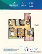 盐城奥特莱斯广场奥莱福邸3室2厅1卫97平方米户型图