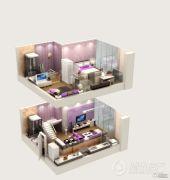 北大资源梦想城公寓2室1厅2卫0平方米户型图