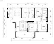 恒伟・湘江时代3室2厅2卫129平方米户型图
