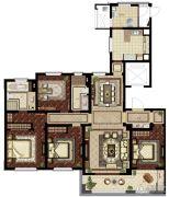 华润悦府4室2厅2卫188平方米户型图