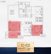 南飞鸿十年城3室2厅1卫0平方米户型图