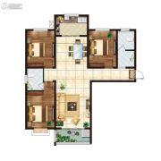 江南鸿郡3室2厅2卫123平方米户型图