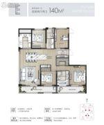 东原印未来4室2厅2卫140平方米户型图