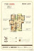 绿地商务城3室2厅1卫115平方米户型图