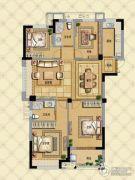 璞缇学苑4室2厅2卫118平方米户型图