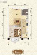 上官锦城1室1厅1卫47平方米户型图