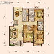 保利海上五月花3室2厅2卫126平方米户型图