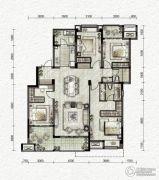 万科金色悦城4室2厅2卫130平方米户型图