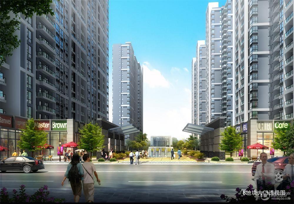 水岸新城项目效果图-大门
