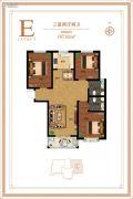 御江景城3室2厅2卫107平方米户型图
