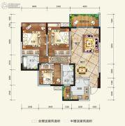希望・玫瑰园3室2厅2卫108平方米户型图
